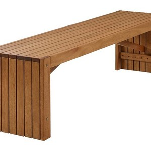 Banco de madeira maciça para jardim