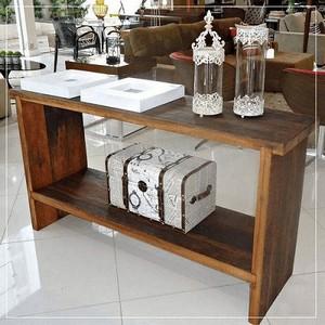 Mesa rustica com resina