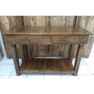Mesa lateral retangular madeira