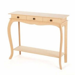 Escrivaninha de madeira de demolição